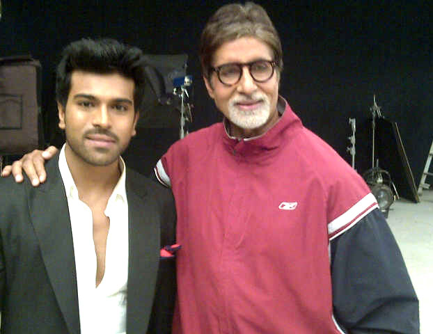 Ram Charan With Amitabh Bachchan- Chai Bisket