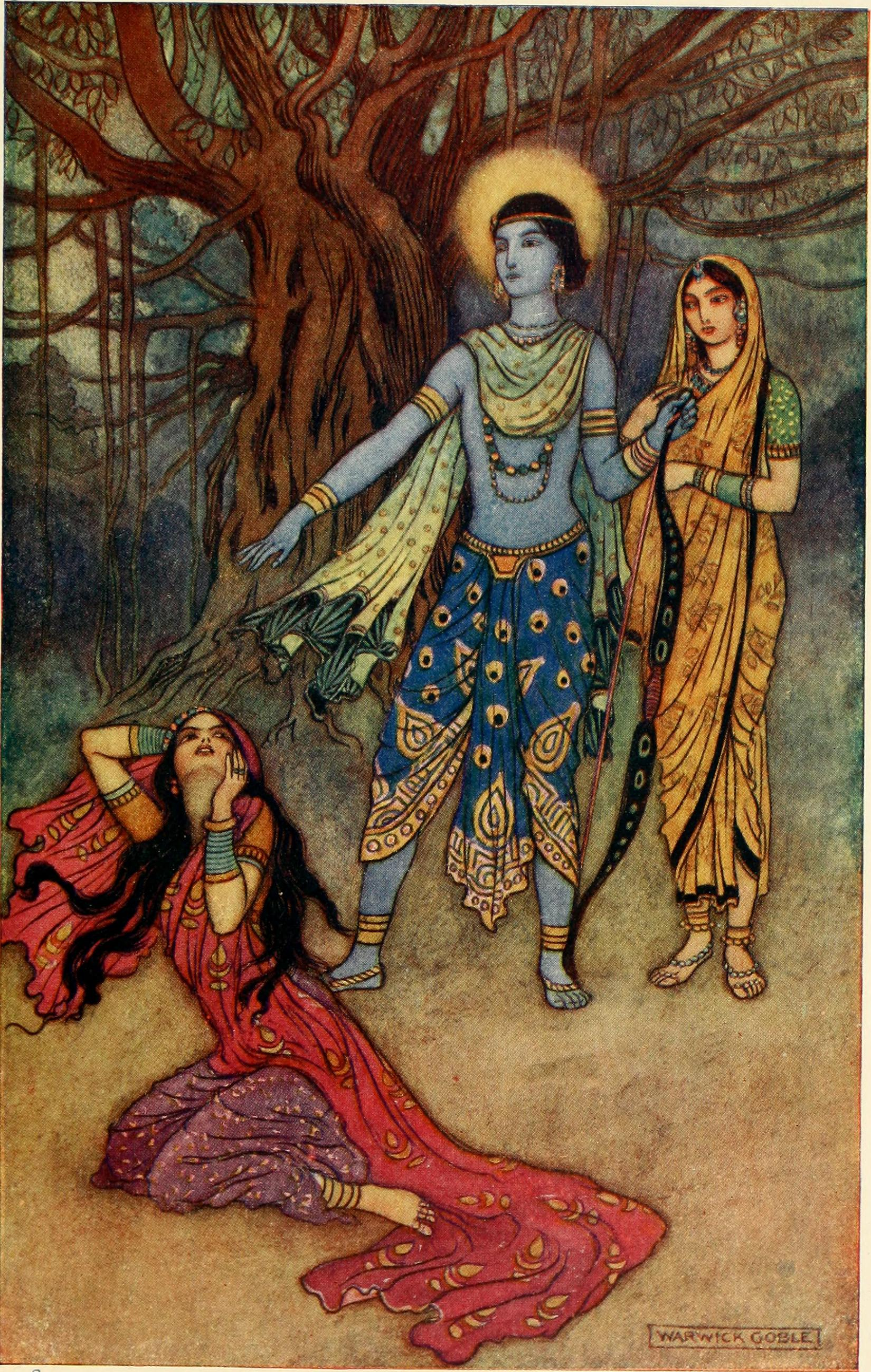 Rama_Spurns_Suparnakha_by_Warwick_Goble