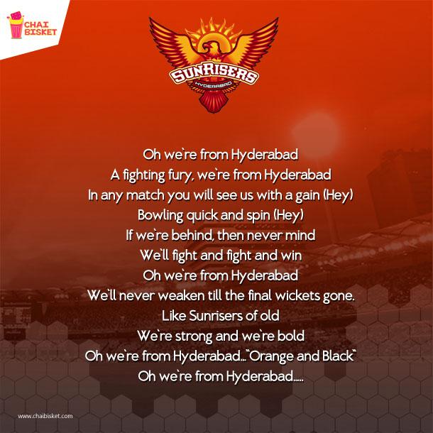 Sunrisers Song