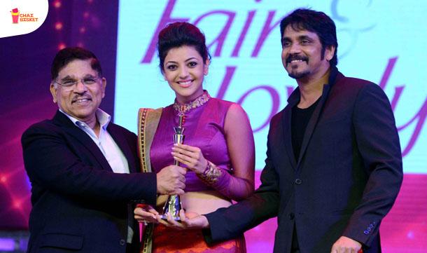 Allu Aravind, Kajal Agarwal, Nagarjuna at CineMAA Awards 2013 Function Photos