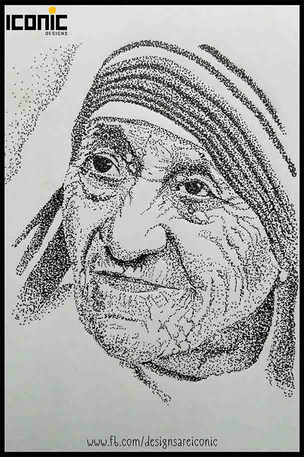 Pointillism_MotherTeresa