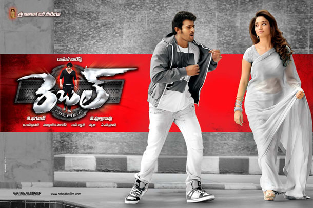 Prabhas, Tamanna in Rebel Movie New Wallpapers