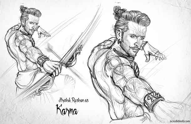 These Sketches Of Our Actors Re-Imagined As Mahabharata