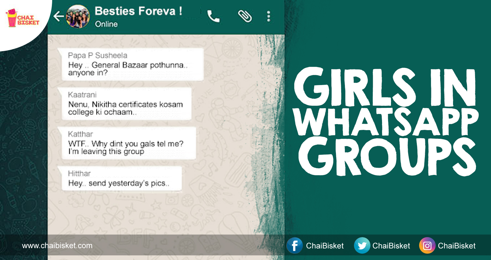 14 Types Of Girls You Find In Every WhatsApp Group That Has Only