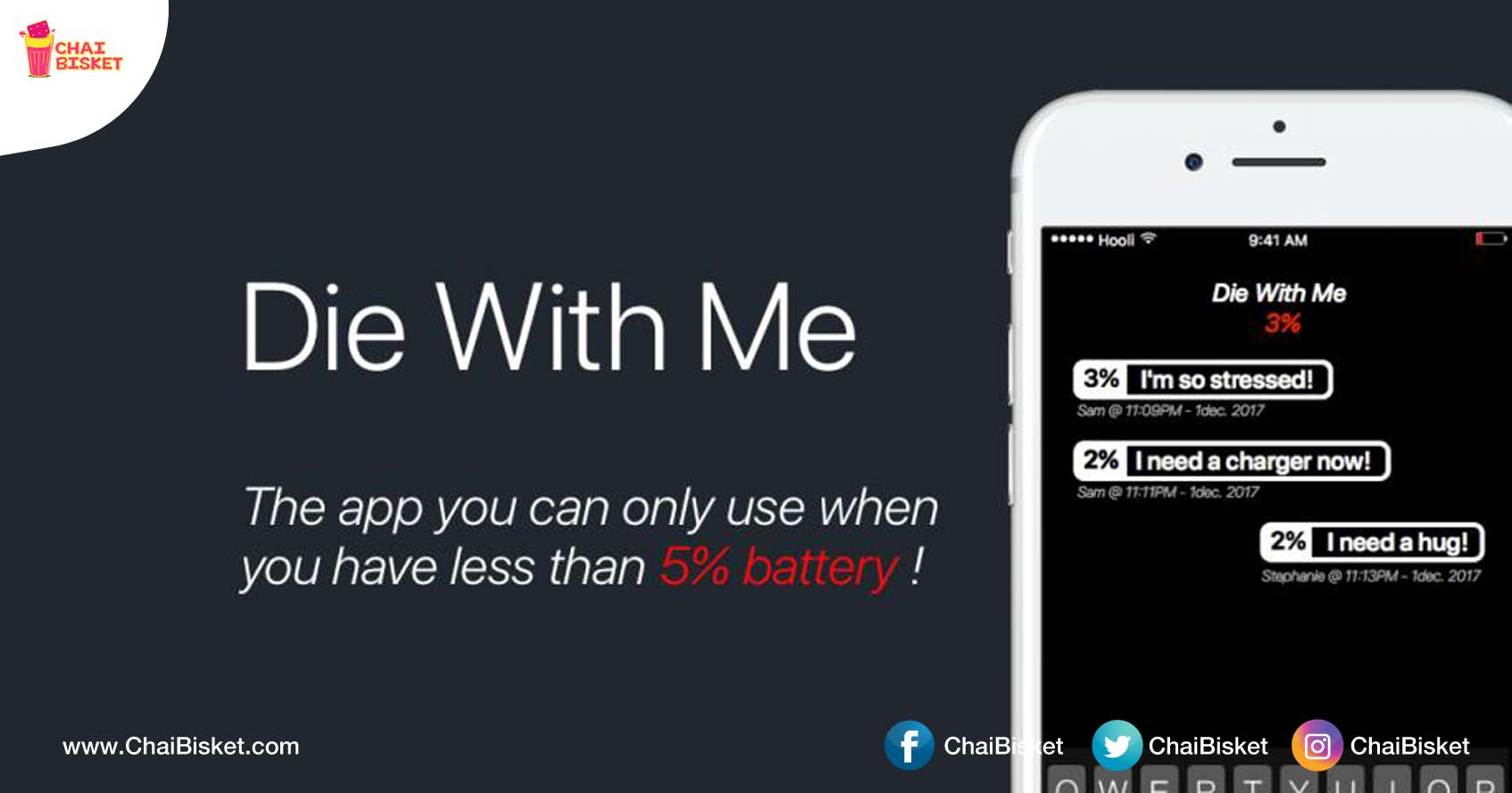 This New App Lets You Chat With Strangers Only When Your Battery Is