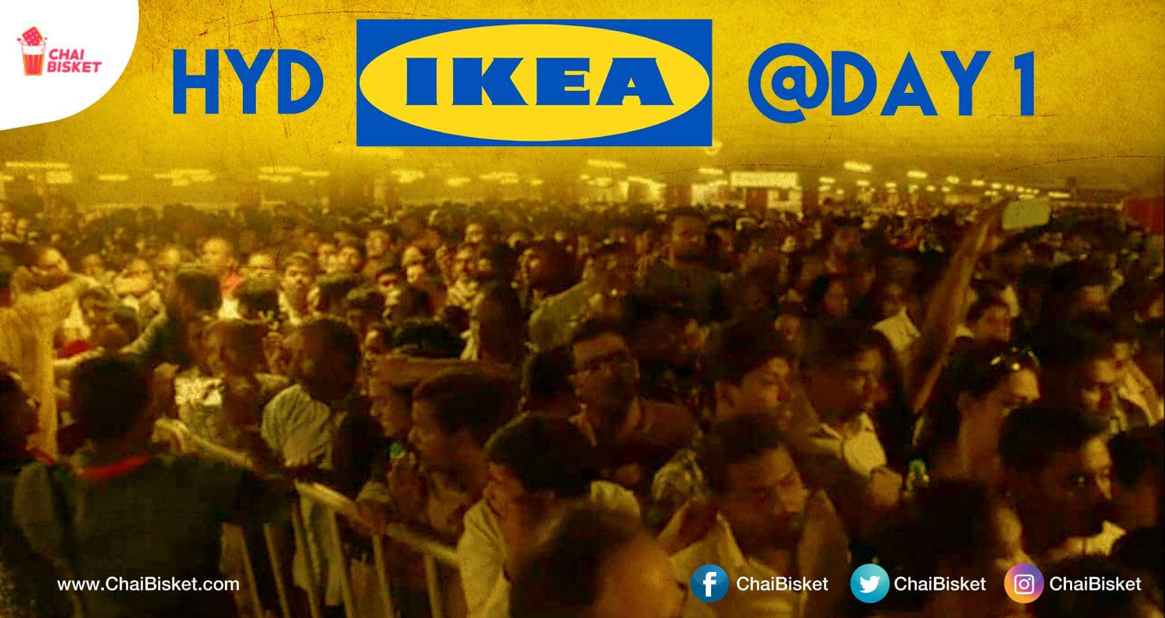 The Crowd At 1st Day Of IKEA At Hyderabad Was No Less Than