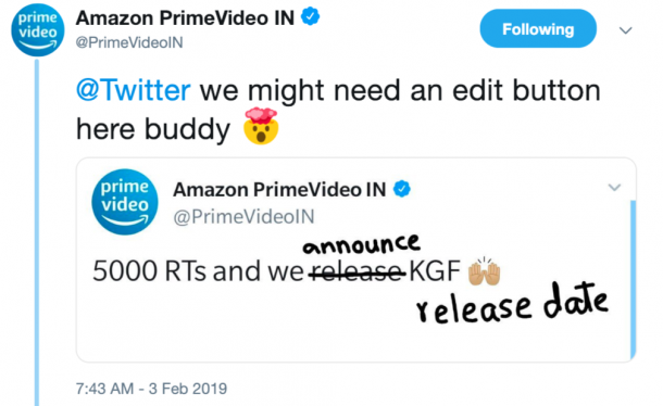 The Internet Forced Amazon Prime To Release 'KGF' & Its ROFL