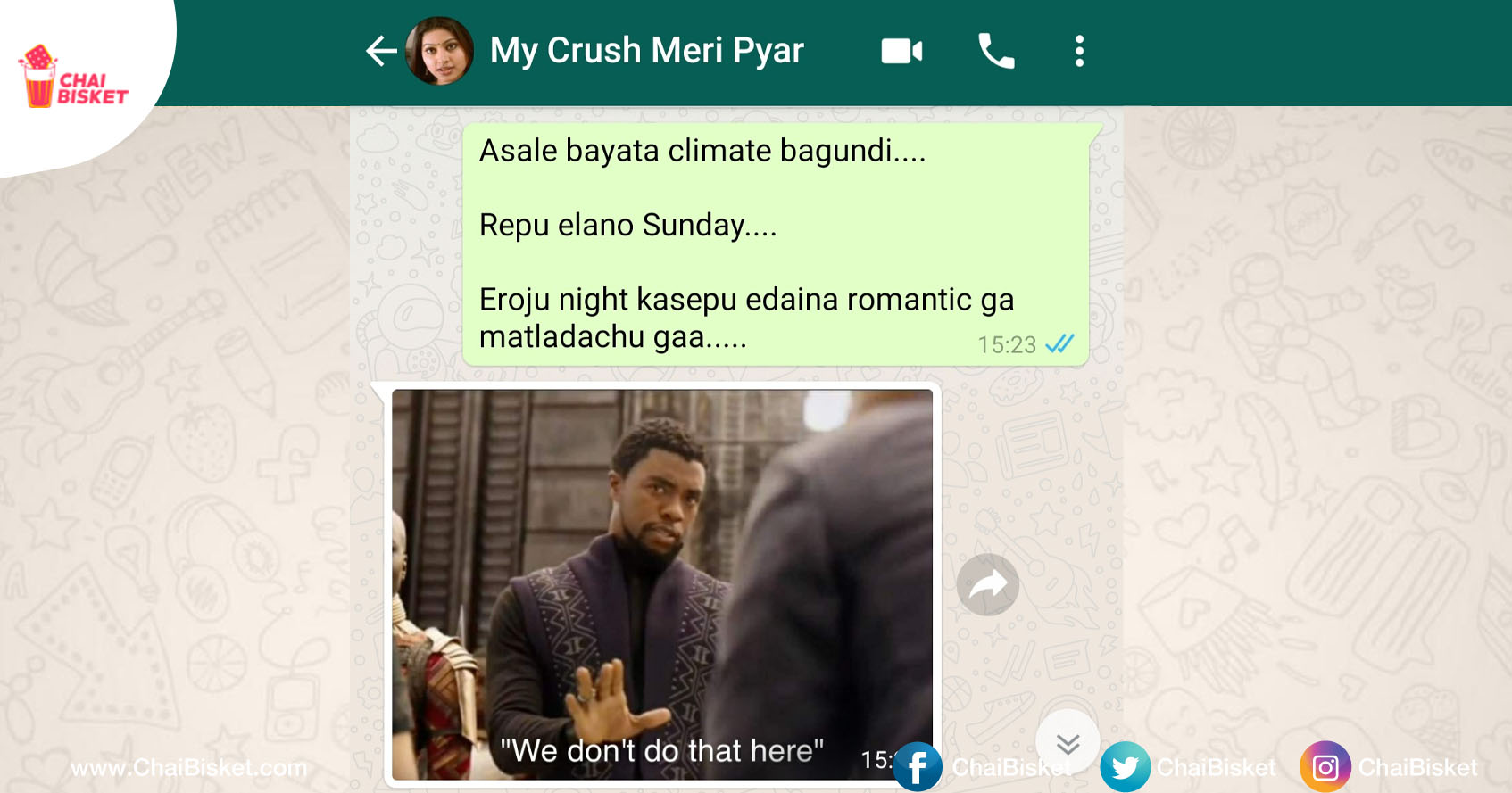 If Your Crush Is A Meme Lover Replies Only Through Memes Chai Bisket