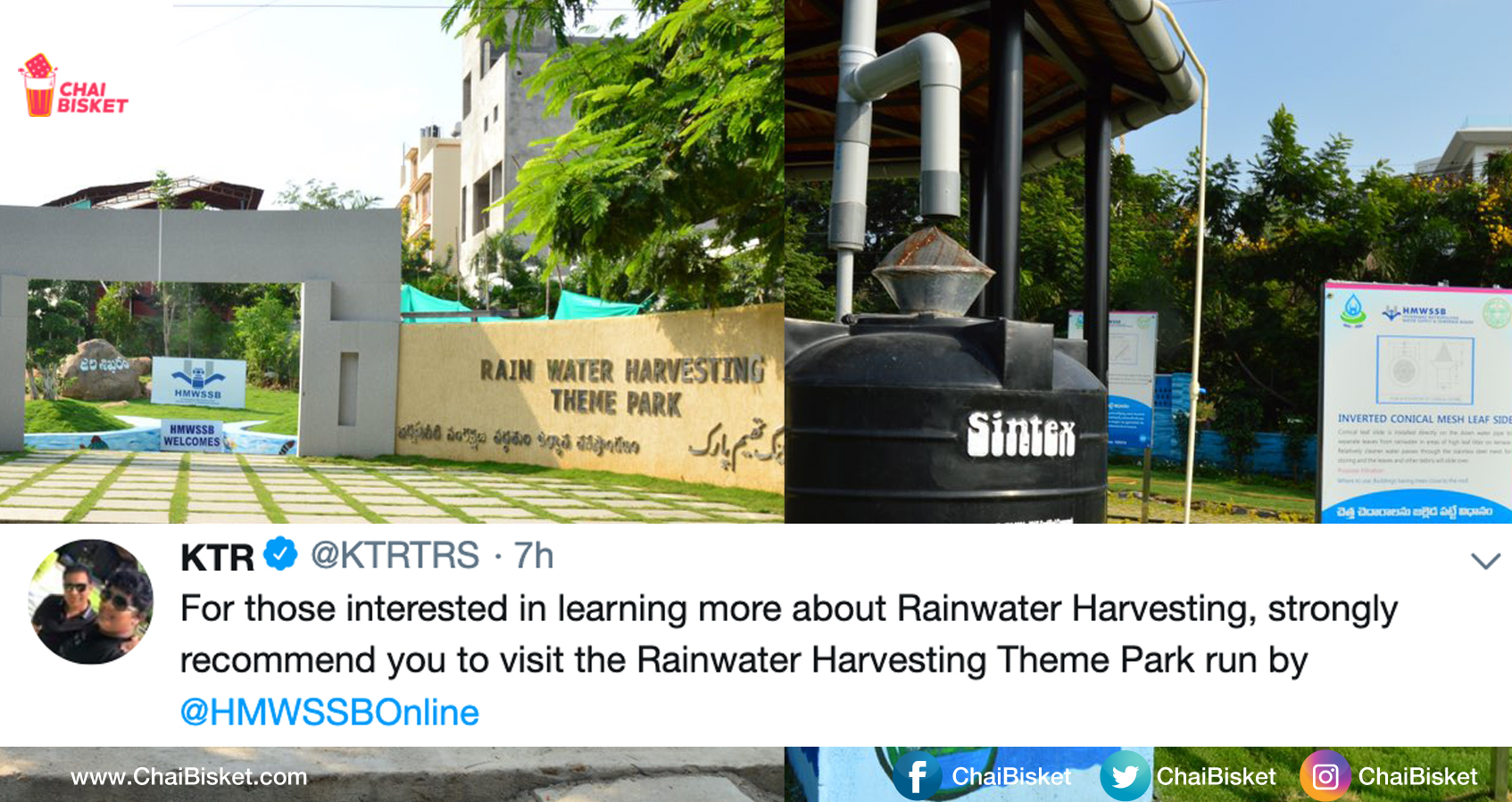 Interested In Rain Water Harvesting? This Park In Hyderabad