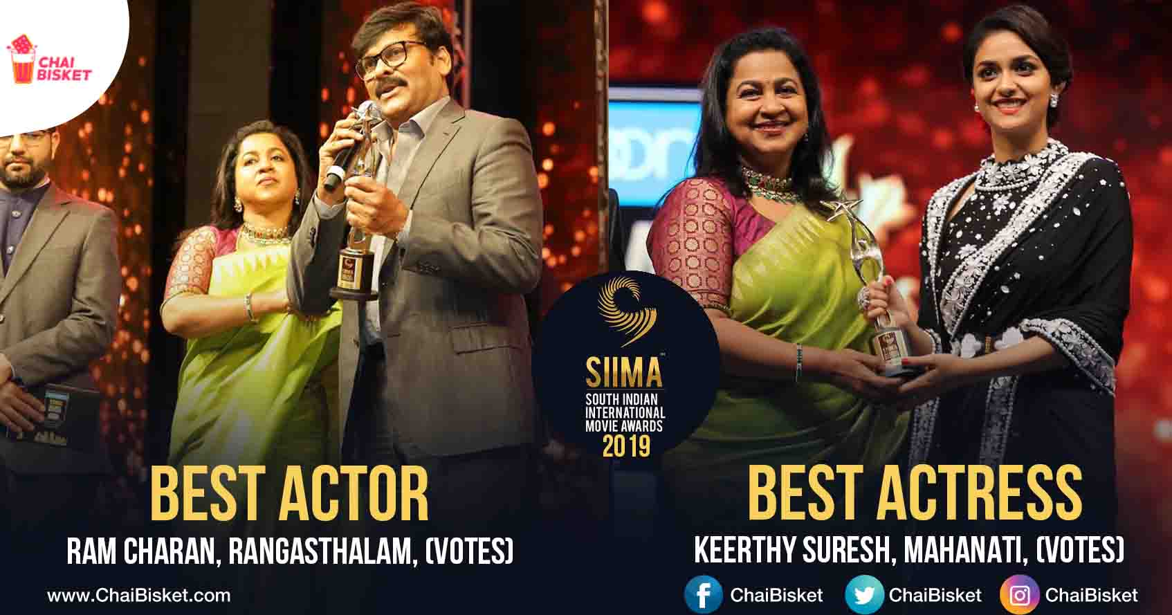 SIIMA Awards 2019 – Here's A List Of All The Winners - Chai