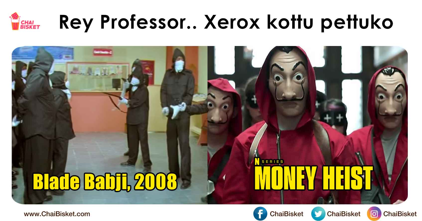 18 Mad Telugu Memes For Those Who've Watched 'Money Heist' - Chai Bisket