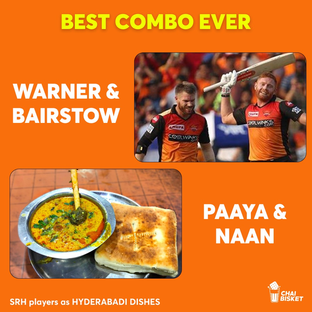 Our SRH Players As Iconic Hyderabadi Dishes: A Crazy Thread